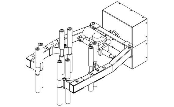 Elektrische grijper RVS QC6-B Zijwaarts kantelen Hovmand tilhulp INOX200
