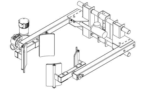 Elektrische Lineair Grijper RVS EG8-C Voorwaarts kantelen Hovmand tilhulp E300R