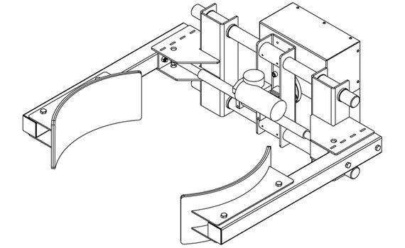 Elektrische grijper lineair RVS EG6-D Zijwaarts kantelen Hovmand tilhulp INOX200