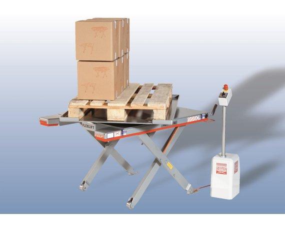 Flexlift FE laagbouw heftafel met draaiplatform draaiplateau