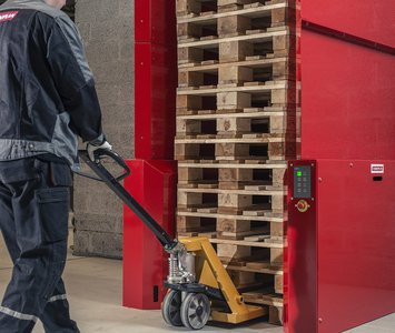 Palletautomaat pallet master pneumatisch