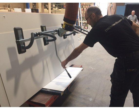 Vacuumheffer tilhulp voor plaatmateriaal met kantelen