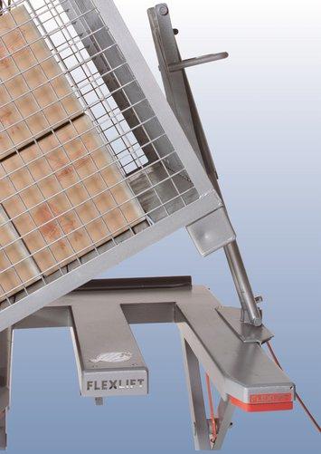 Flexlift laagbouw heftafel Model FE Kantelinrichting