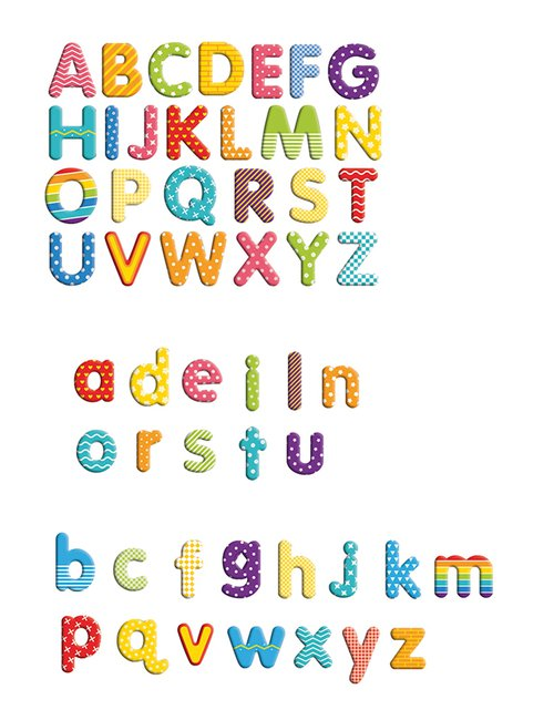 Magnetische letters in kistje