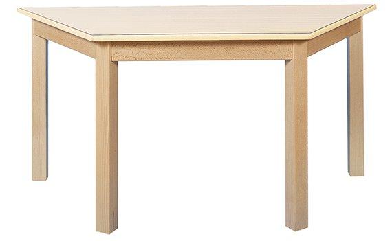 Tisch Trapez 120x60cm. Ahorn hell