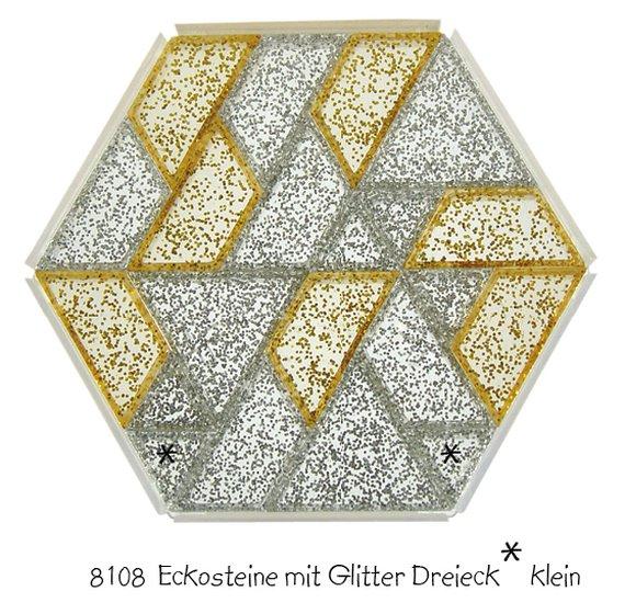 Ecko prismastenen goud en zilver