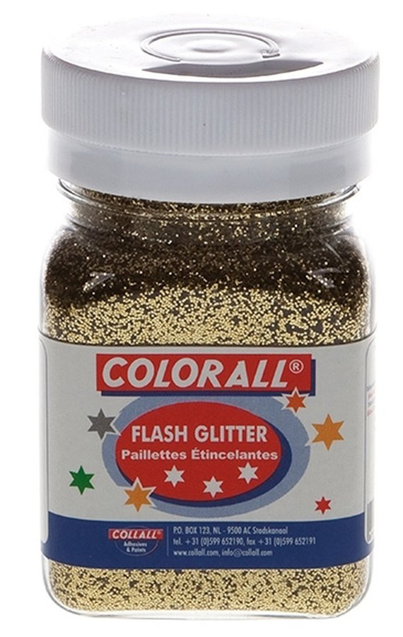 Glitter goud ca. 150 ml.