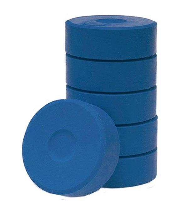 Wasserfarbe-Pucks dunkelblau 55mm. 6 Stück