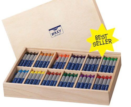 Wachsmaler Angebot 12 Farben je 12 St. in Holzkiste!
