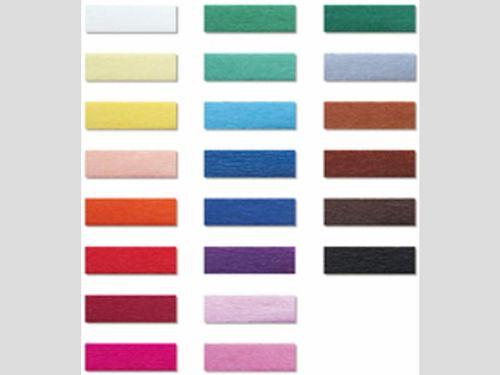 Krepppapier Sortiment mit 17 Farben.