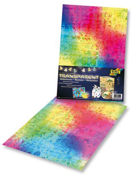 Transparantpapier/Vliegerpapier mozaiek