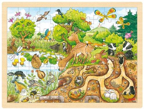Einlegepuzzle Natur