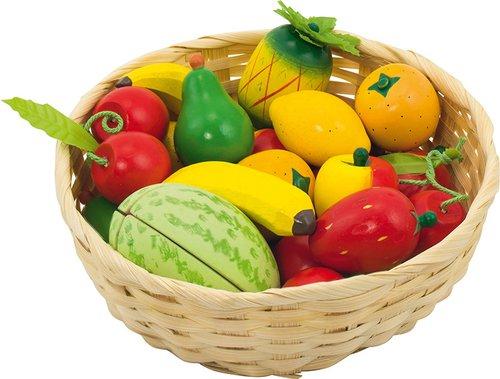 Obst im Korb 23-teilig