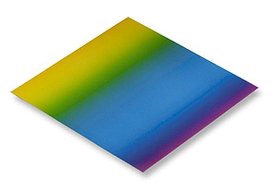 Regenbogenfaltblätter 15x15 cm.