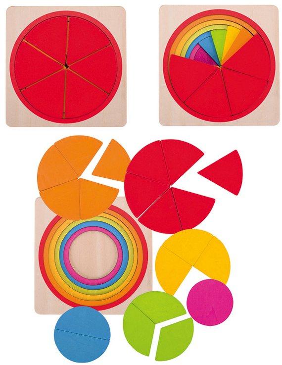 Schichtenpuzzle Kreis