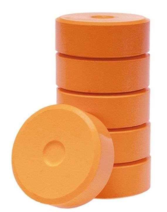 Posterbloks 55 mm oranje 6 stuks.