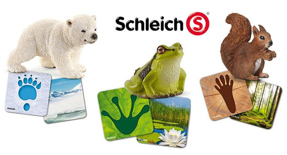 Schleich Wildlifeset  met dierkaarten