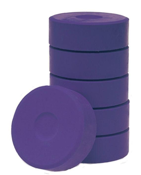Wasserfarbe-Pucks violett 55mm. 6 Stück