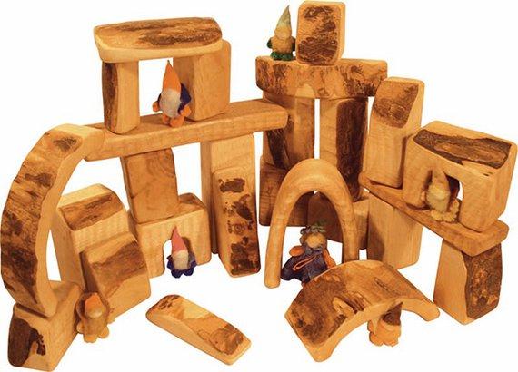 Bauklotzsatz 25 teilig aus Nauturholz