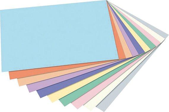 Tonpapier in Pastellfarben DIN A4