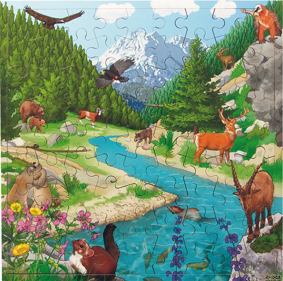 Puzzle Tierwelten interaktiv, das neue Puzzle mit der tollen App !
