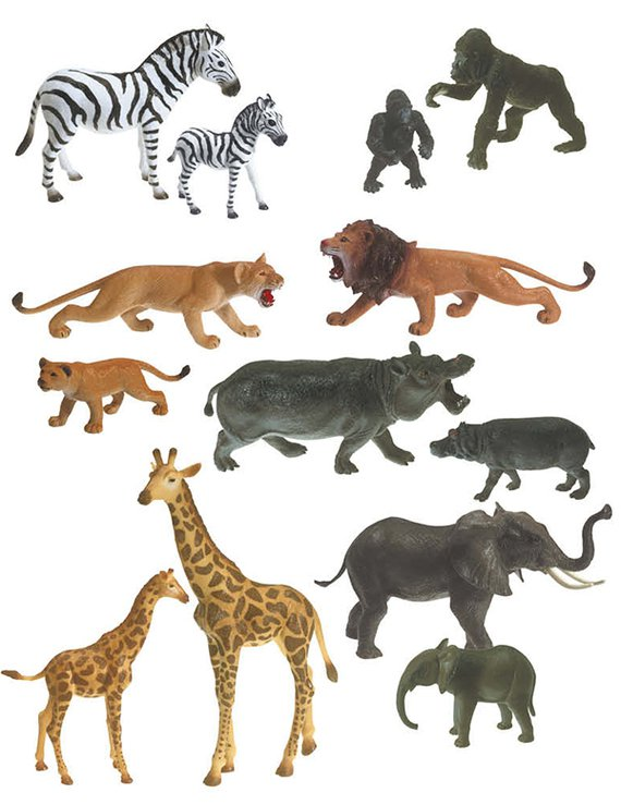 Wilde dieren soft XL