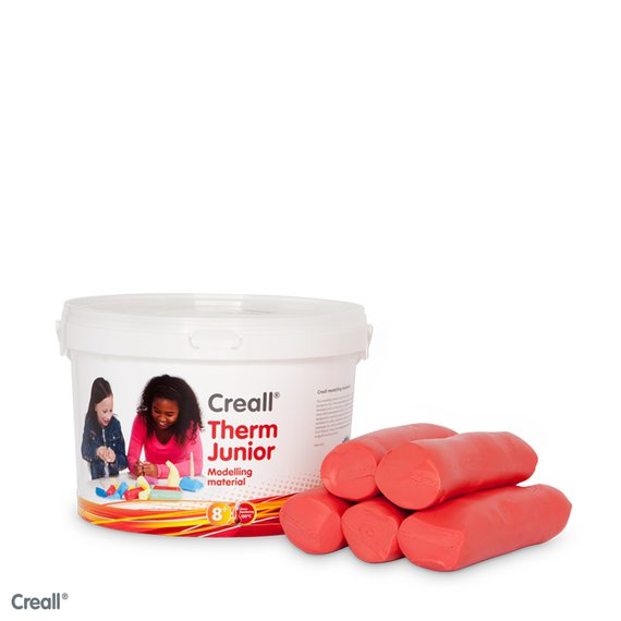 Creall-therm klei 2000 gram rood