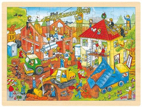 Einlegepuzzle Hausbau  96 teilig