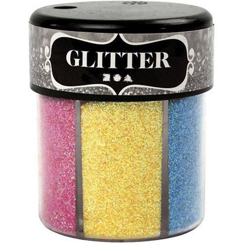 Glitter in strooipot B.