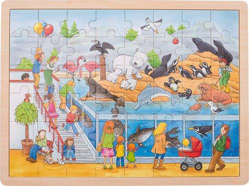 Einlegepuzzle Zoo 48 teilig