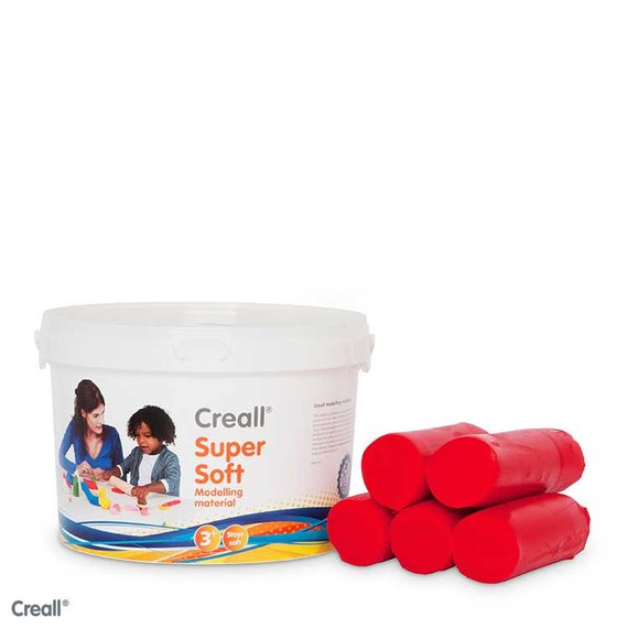 Creall-klei Supersoft 1750 gram rood