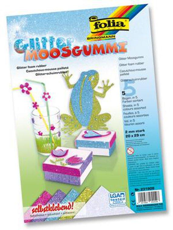 Moosgummi Glitter Ice