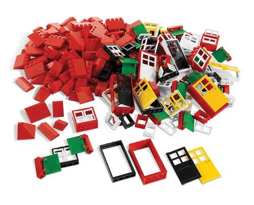 Lego Ramen, deuren + dakpannen.