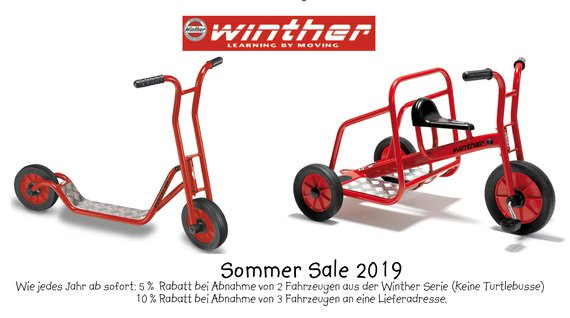 Sommersale 2019 Winther Fahrzeuge
