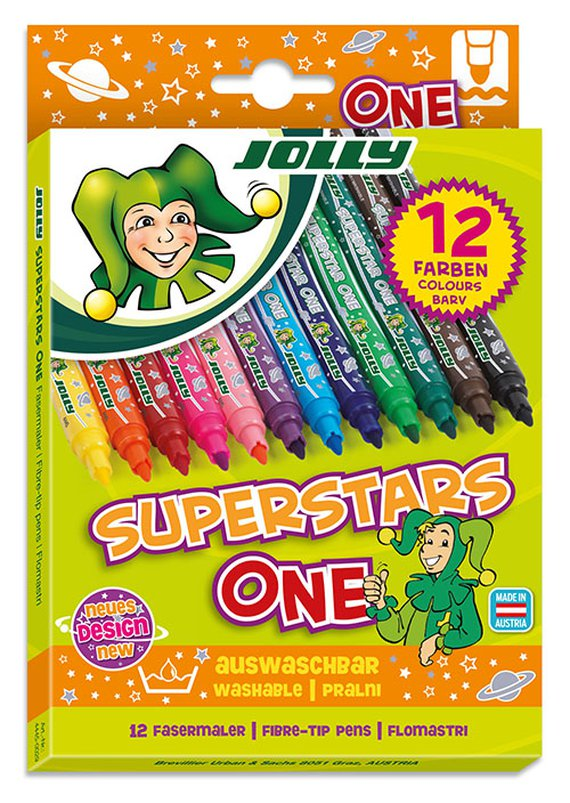 Viltstiften 12x Jolly SuperstarOne