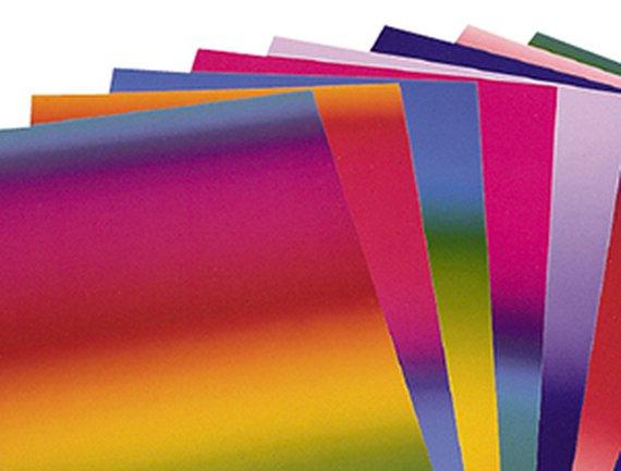 Regenbogenkarton 10 Blatt doppelseitig.
