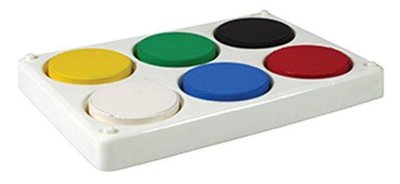 Wasserfarbenbehälter für 6 Farbpucks von max. 55mm.