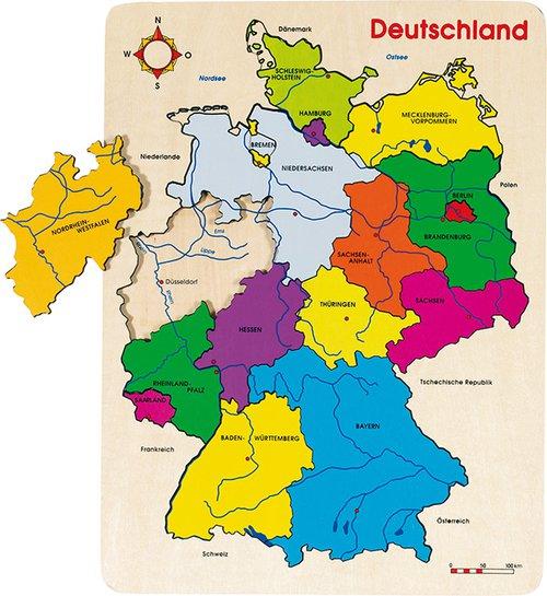 Einlegepuzzle Deutschland
