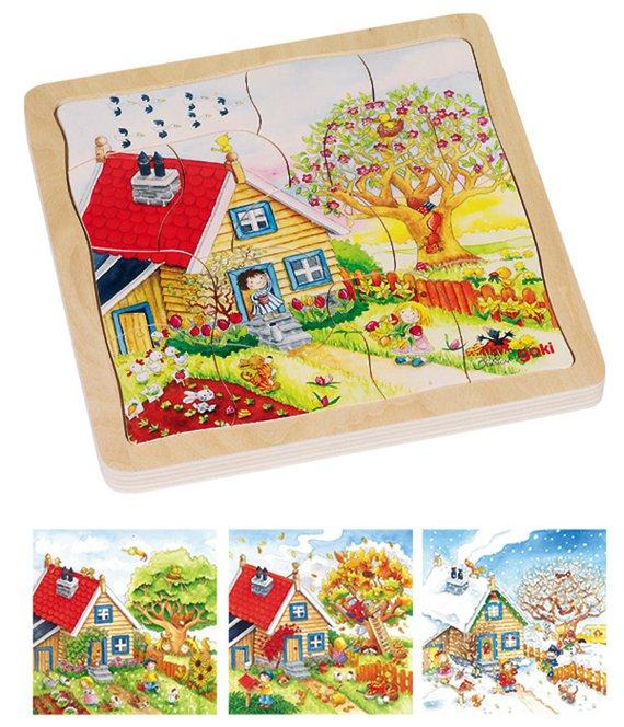 Schichtenpuzzle Jahreszeiten