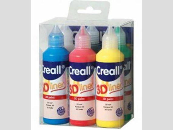 Creall 3-D liner 6 Farben je 80ml.