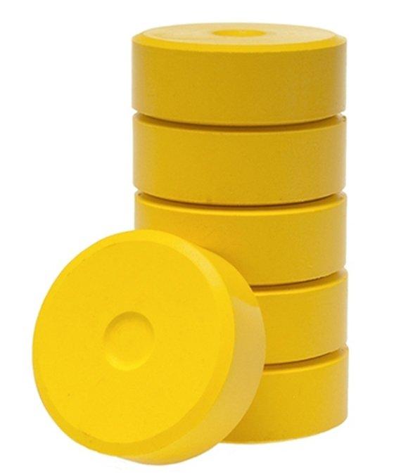Posterbloks 55 mm donker geel, 6 stuks