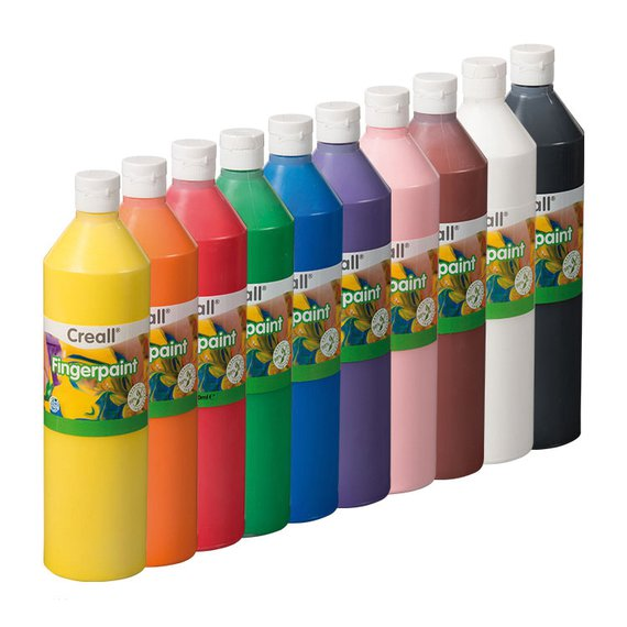 Fingerfarbe Sortiment 10 Farben.