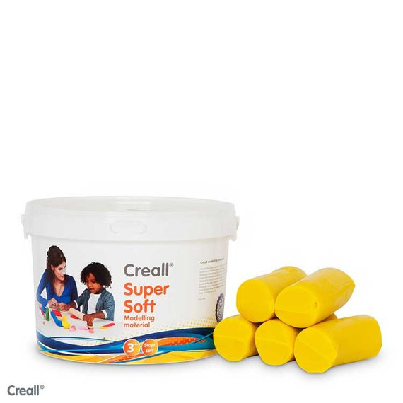 Creall klei Supersoft 1750 gram geel.