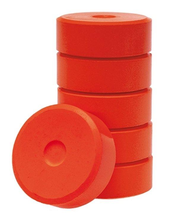 Wasserfarbe-Pucks rot 55mm. 6 Stück