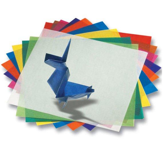 Transparentpapier-Faltblätter 15x15cm