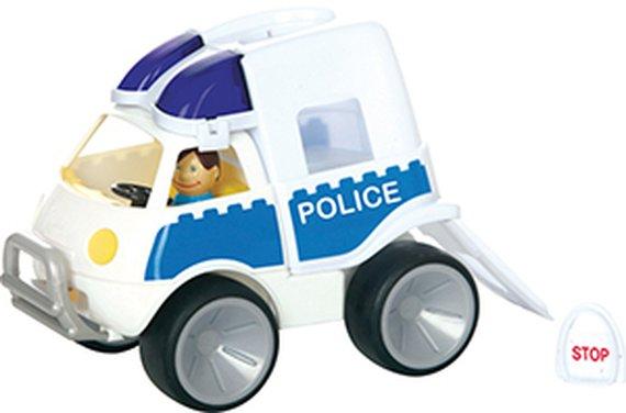 Politieauto met softwheels