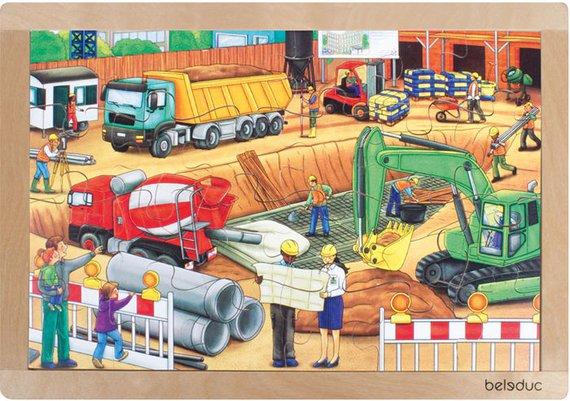 Puzzel bouwplaats