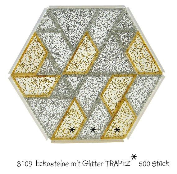 Ecko Prismostenen trapeze goud en zilverglitter