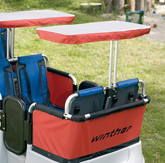 Turtle Sonnenschutz für 2 Sitzplätze.