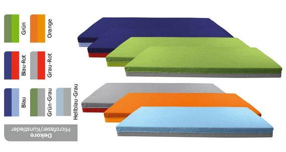 Bodenliegepolster, Dekore Mikrofaser/Kunstleder